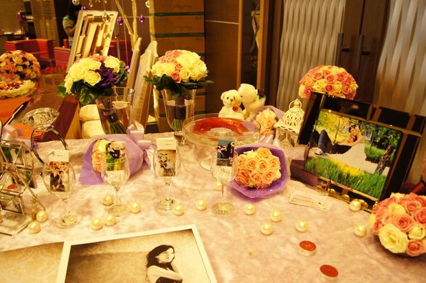 风格 海洋主题婚礼布置 风车主题婚礼布置 粉绿色系会场布置 饭店宴会